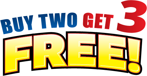 Buy Two Get Three Free