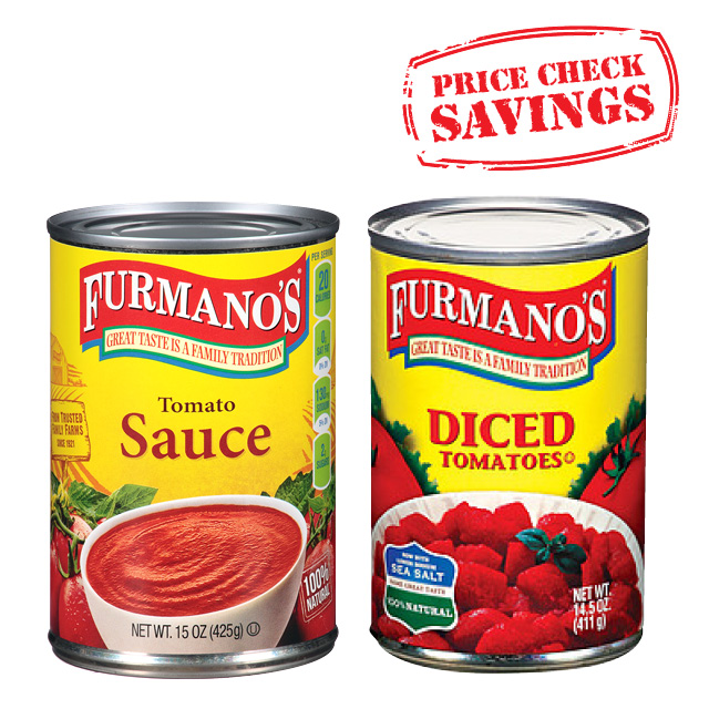 Furmano's Canned Tomatoes, Sauce or Puree