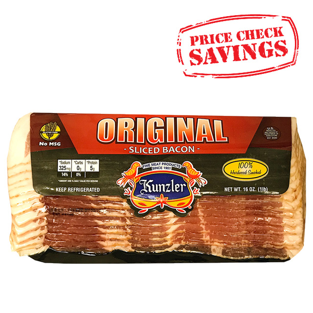 Kunzler Sliced Bacon