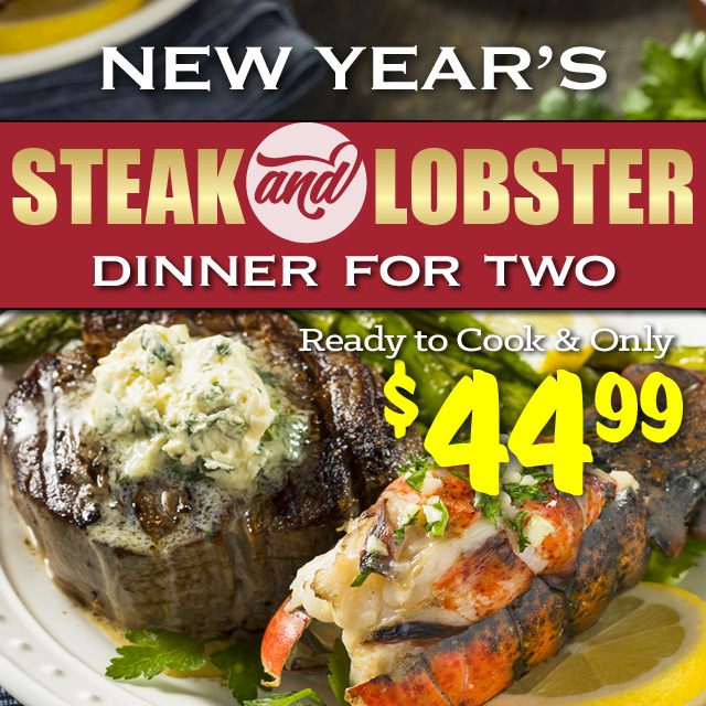 New Year's Steak & Lobster Dinner for Two